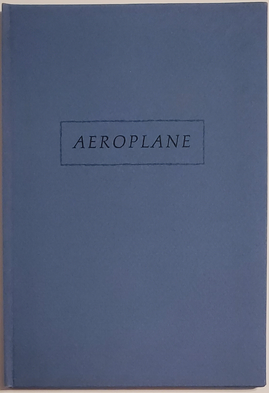AEROPLANE or, how he talked to himself as if reciting poetry [LIMITED SIGNED]. Haruki Murakami.