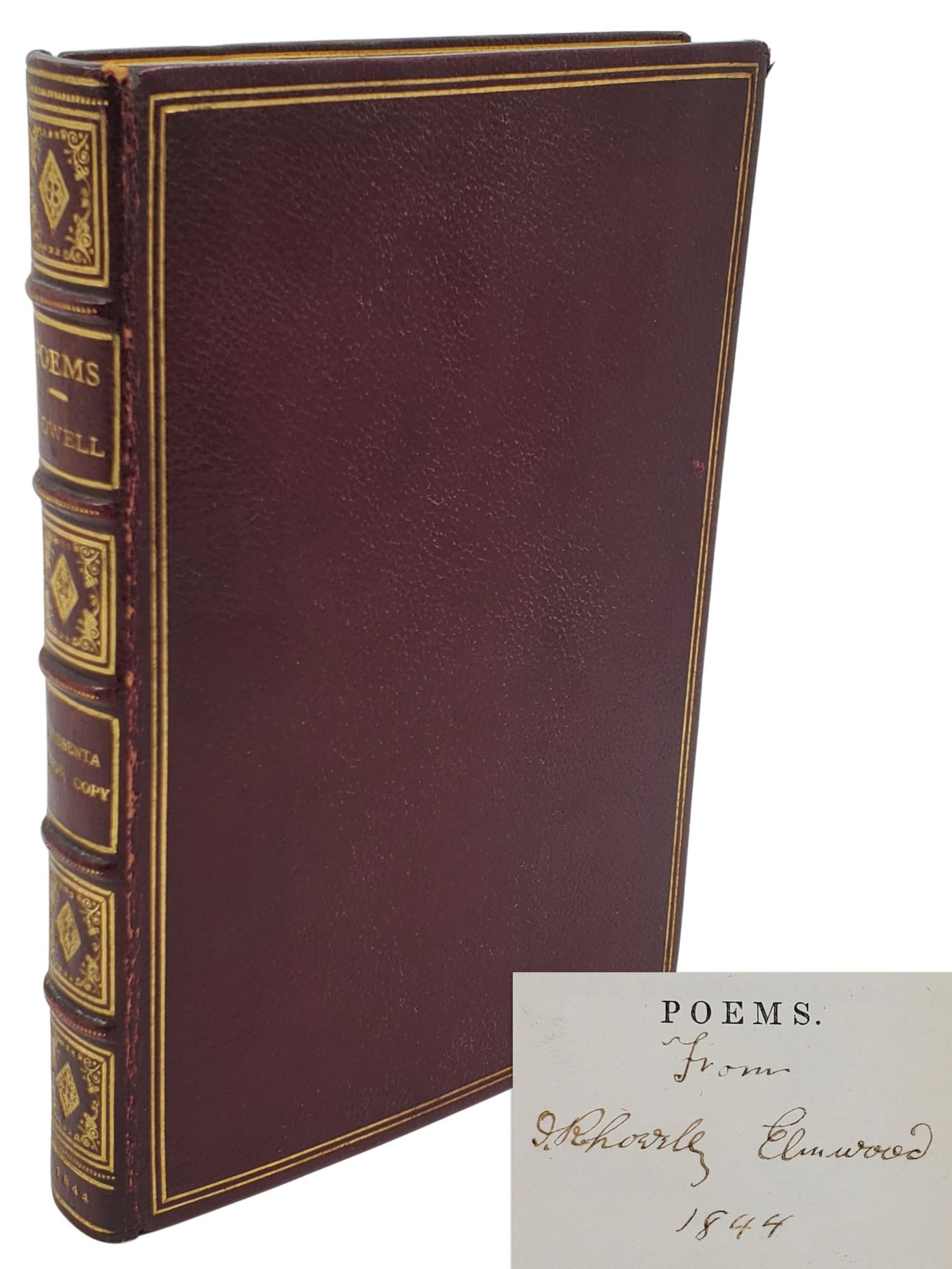 POEMS [INSCRIBED]. James Russell Lowell.