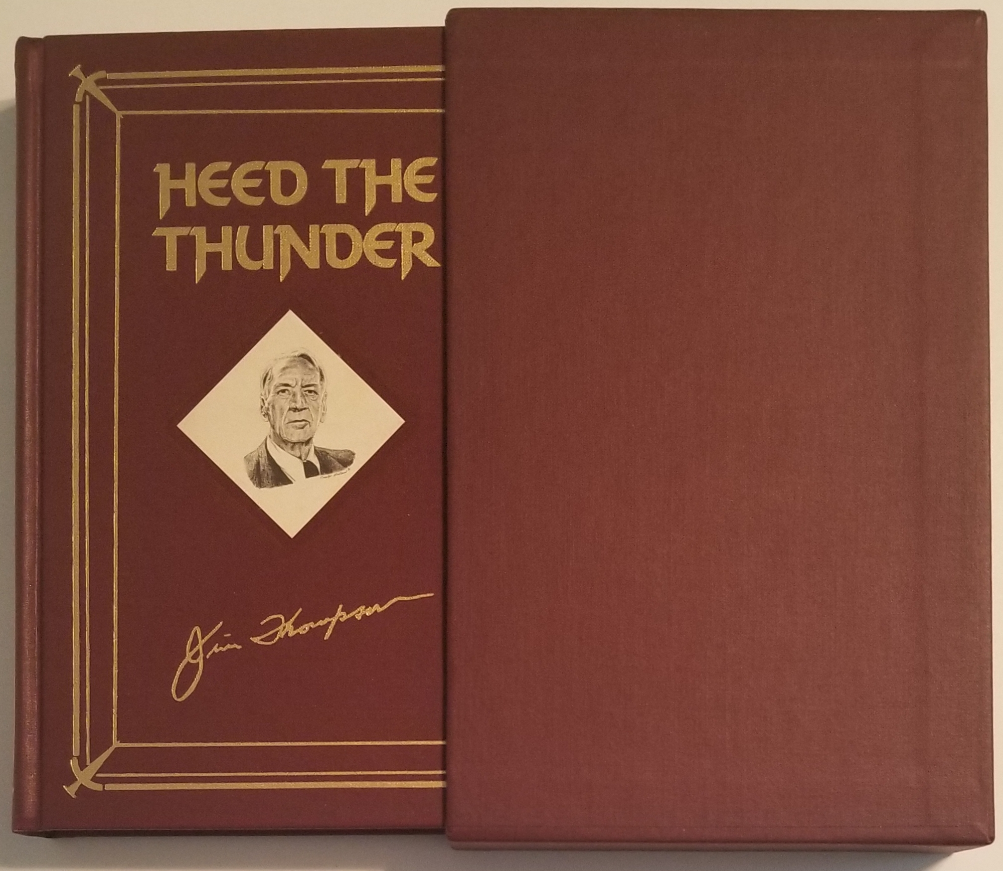 HEED THE THUNDER. Introduction by James Ellroy. Jim Thompson.