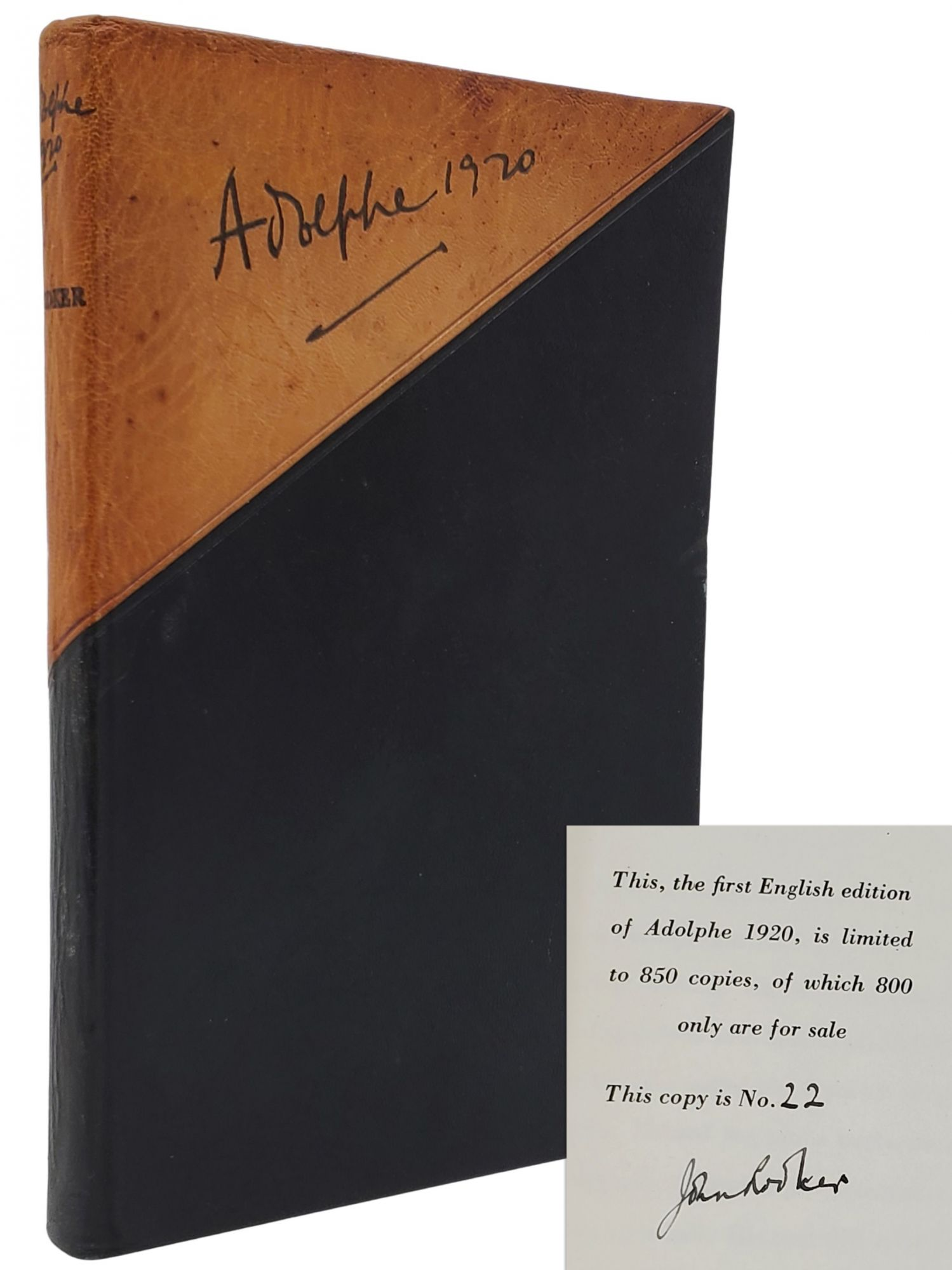ADOLPHE 1920 [ONE OF 50 LIMITED SIGNED]. John Rodker.