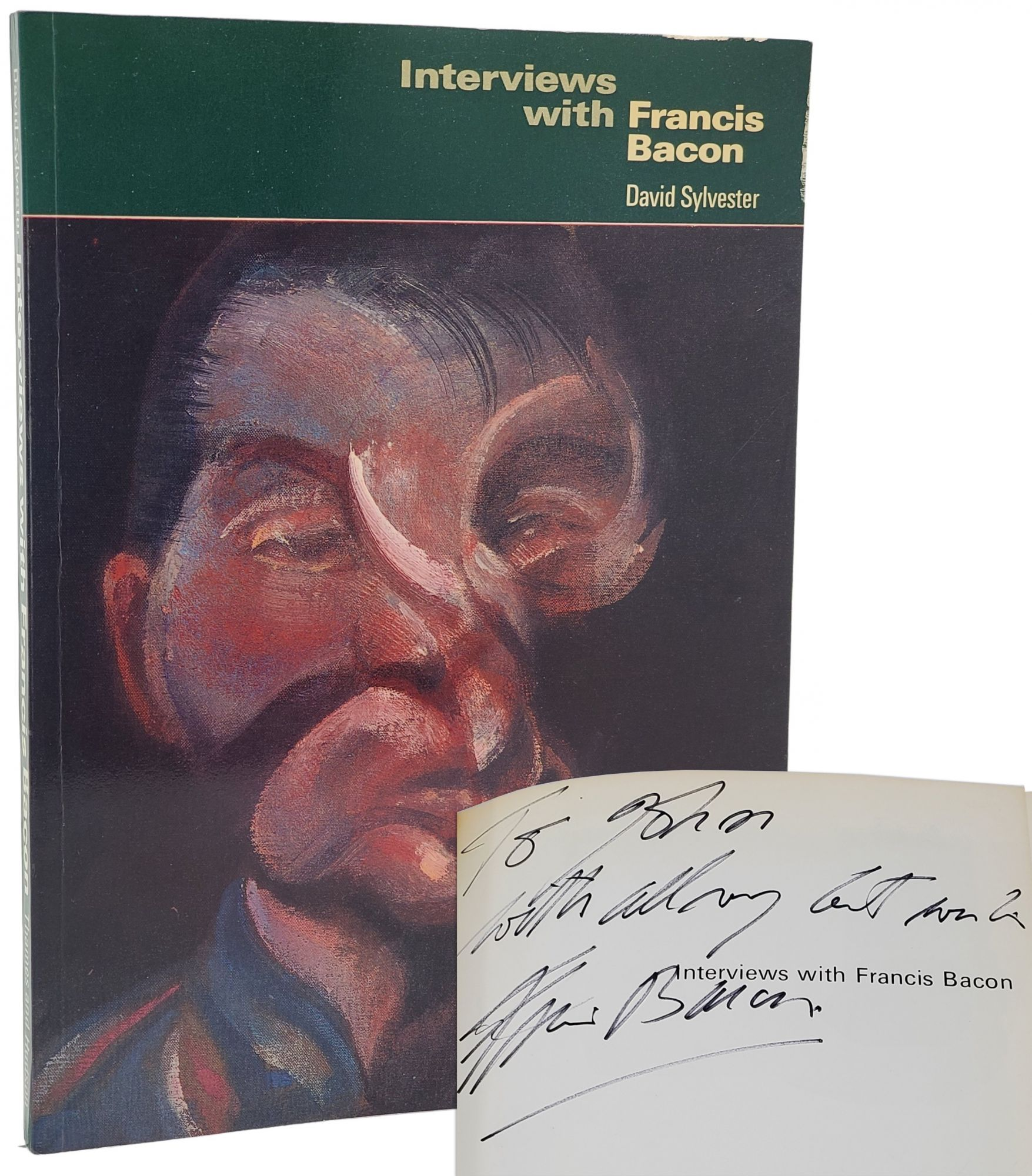 INTERVIEWS WITH FRANCIS BACON [SIGNED & INSCRIBED] With 94 Illustrations. Francis Bacon, David Sylvester.