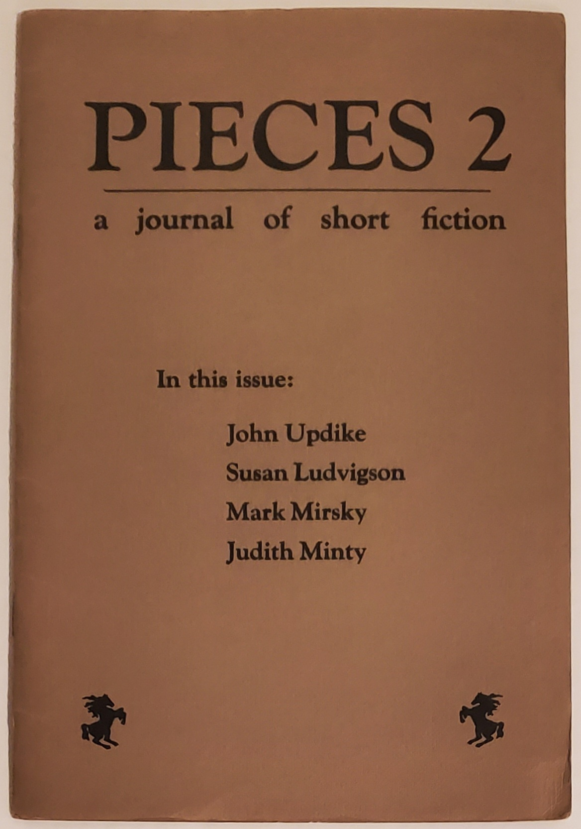 """An Encounter Left Out of RABBIT REDUX"" in PIECES 2: A Journal of Short Fiction. John Updike."