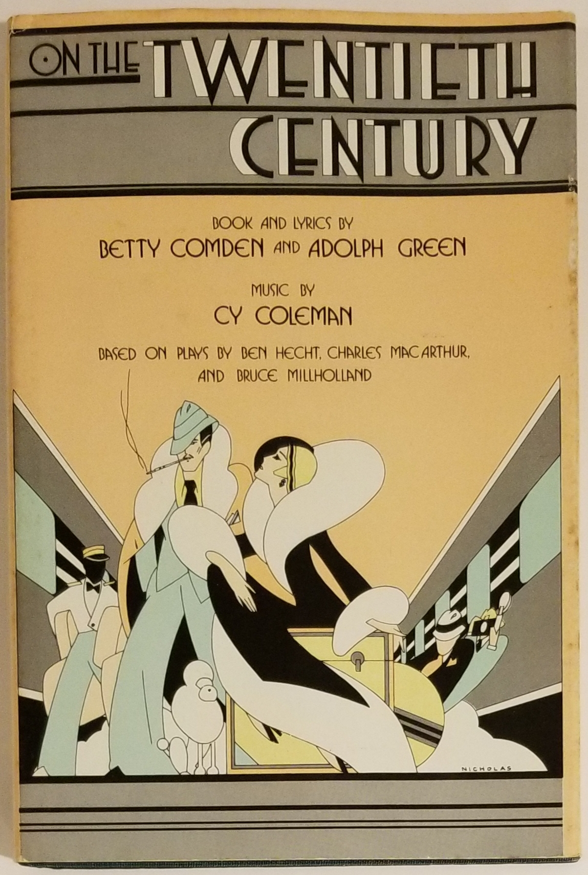ON THE TWENTIETH CENTURY. Book, lyrics, Betty Comden, Adolph. Coleman Green, Cy, Music.