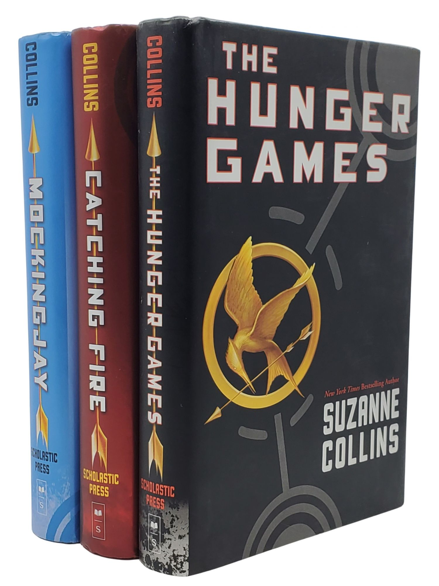 THE HUNGER GAMES TRILOGY: Hunger Games; Catching Firing; Mockingjay. Suzanne Collins.