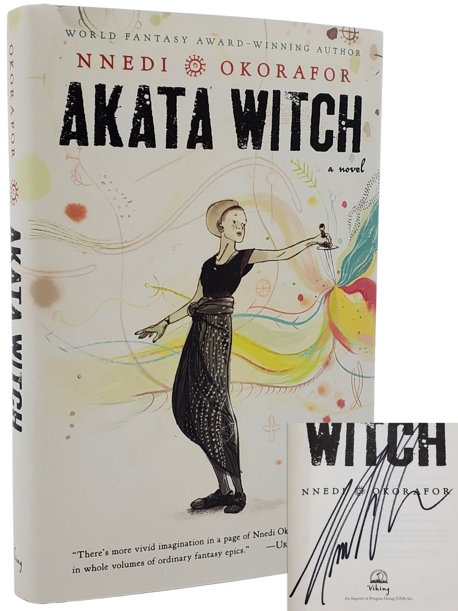 AKATA WITCH [SIGNED WITH DOODLES - LATER PRINTING]. Nnedi Okorafor.