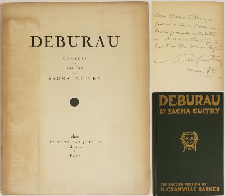 DEBURAU (INSCRIBED ASSOCIATION COPY of the 1918 French Trade Edition, and a copy the 1921 English...