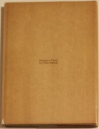HOMAGE TO CAVAFY. Ten Poems by Constantine Cavafy. Ten Photographs by Duane Michals. Constantine...