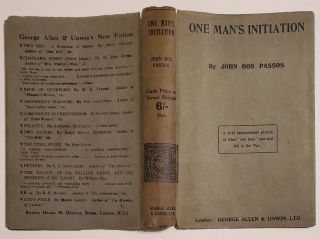 ONE MAN'S INITIATION --- 1917 [Inscribed Copy of First Book w/ Autographed Letter].