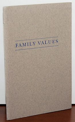 FAMILY VALUES. Richard Howard