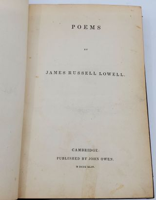 POEMS [INSCRIBED].