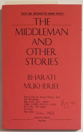 THE MIDDLEMAN and Other Stories. Bharati Mukherjee