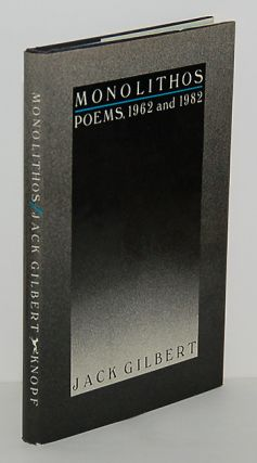 MONOLITHOS. Poems, 1962 and 1982.