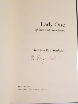 LADY ONE. Of Love and Other Poems.