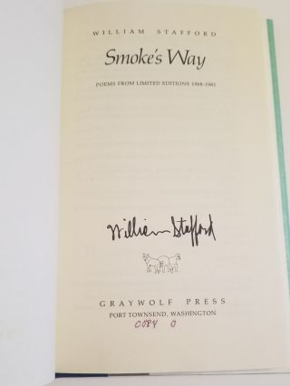 SMOKE'S WAY: POEMS FROM LIMITED EDITIONS 1968-1981.