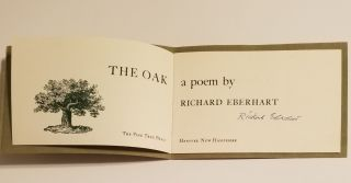 THE OAK. Richard Eberhart