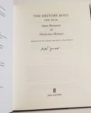 THE HISTORY BOYS: THE FILM. With an Introduction by Nicholas Hytner.