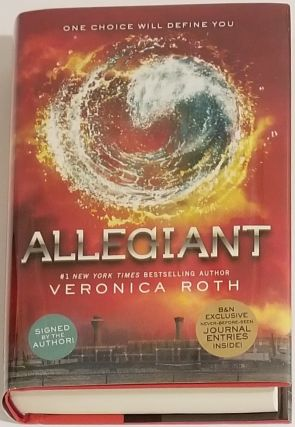 ALLEGIANT [SIGNED - B&N EXCLUSIVE WITH JOURNAL ENTRIES INSIDE]. Veronica Roth
