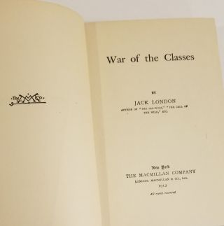 THE WAR OF THE CLASSES.