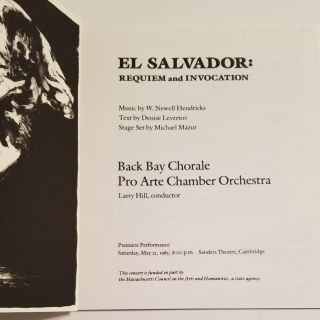EL SALVADOR: REQUIEM and INVOCATION.