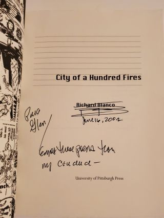 CITY OF A HUNDRED FIRES.