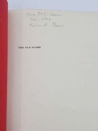 THE OLD GLORY [SIGNED ASSOCATION COPY].