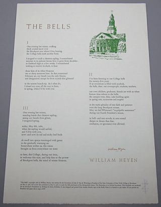 THE BELLS. William Heyen